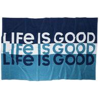 Life is Good Stripe Beach Towel