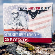 Team Never Quit 10mm 125 Grain Frangible HP Reduced Ricochet Handgun Ammo (20)