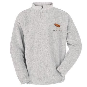 ESY Mens Moose Two Button Henley Sweatshirt