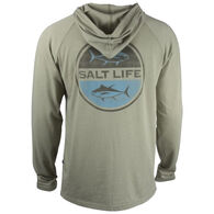 Salt Life Men's Seeing Tuna Lightweight Heathered Jersey Hoodie