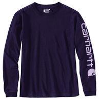 Carhartt Women's Loose Fit Heavyweight Graphic Logo Long-Sleeve T-Shirt