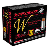 Winchester W Train & Defend 380 Auto 95 Grain JHP Defend Handgun Ammo (20)