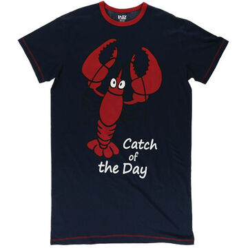 Lazy One Womens Catch of the Day Lobster Nightshirt