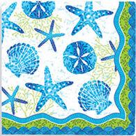Cape Shore Beach Batik Beverage Napkin