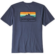 Patagonia Men's Line Logo Badge Short-Sleeve Responsibili-Tee