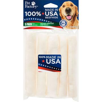 Pet Factory USA Beefhide Chip Roll Dog Treat - 5 Pk.