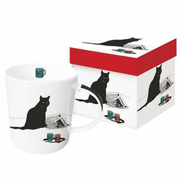 Paperproducts Design Black Cat Journal Mug