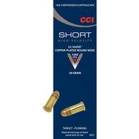 CCI Short HV 22 Short 29 Grain CPRN Rimfire Ammo (100)