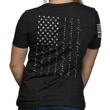 Nine Line Apparel Womens The Pledge Relaxed Fit Short-Sleeve T-Shirt
