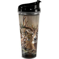 American Expedition Whitetail Deer Collage Tall Acrylic Tumbler
