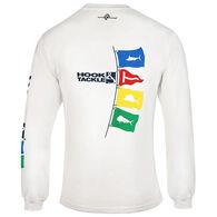Hook & Tackle Men's Tag Flags UV Performance Fishing Long-Sleeve T-Shirt