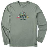 Life is Good Men's Jake and Rocket Fishing Vintage Crusher Long-Sleeve T-Shirt