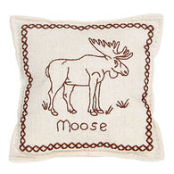 """Paine Products 4"""" x 4"""" Moose Outline Balsam Pillow"""