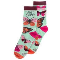 Karma Women's Butterfly Crew Sock