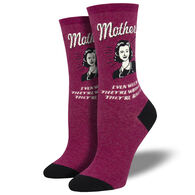 Socksmith Design Women's Mothers Know Best Crew Sock