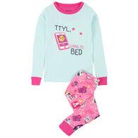 Hatley Girls' TTYL Organic Cotton Pajama Set