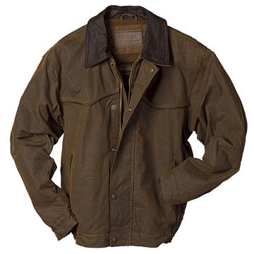 Outback Trading Mens Trailblazer Oilskin Jacket