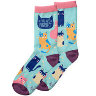 Karma Women's You Are Purrfect Cat Crew Sock