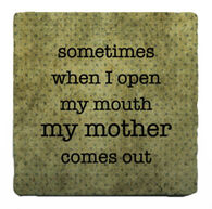 Paisley & Parsley Designs Open My Mouth Marble Tile Coaster