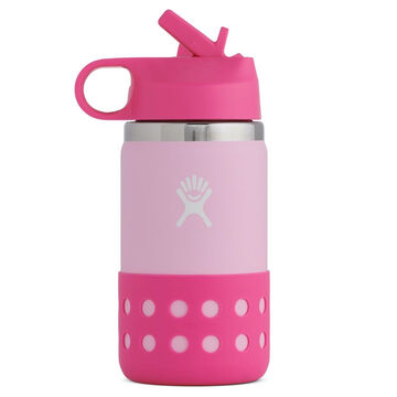 Hydro Flask Childrens 12 oz. Wide Mouth Insulated Bottle w/ Straw Cap & Flex Boot