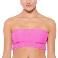 Hot Water Women's Solid Longline Bandeau Swimsuit Top