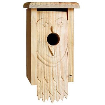 Welliver Carved Owl Bluebird Birdhouse