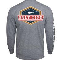 Salt Life Men's Lock Down Thrill in the Reel Pocket Long-Sleeve T-Shirt