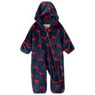 Hatley Infant/Toddler Boys' Red Labs Fuzzy Fleece Baby Bundler