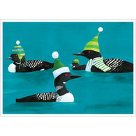 Allport Editions Loons in Hats Boxed Holiday Cards