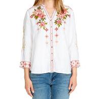 Johnny Was Women's Yuki Button Down Long-Sleeve Top