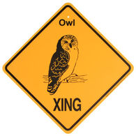 KC Creations Owl XING Sign