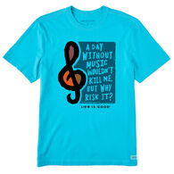 Life is Good Men's A Day Without Music Crusher Short-Sleeve T-Shirt