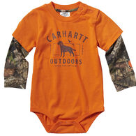 Carhartt Infant Boy's Layered Camo Long-Sleeve Bodyshirt