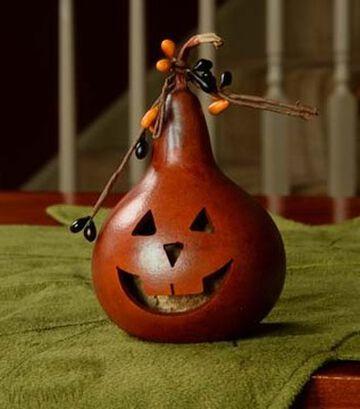 Meadowbrooke Gourds Party Treat Pumpkin Face Gourd