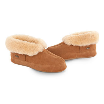 Acorn Mens Sheepskin Bootie Slipper