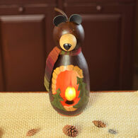 Meadowbrooke Gourds Caleb Medium Lit Bear Gourd