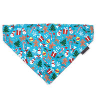 The Worthy Dog Over-The-Collar Winter Wonderland Dog Bandana