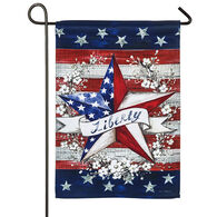 Evergreen Liberty Star Garden Flag