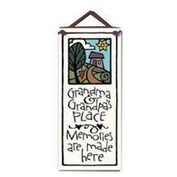 "Spooner Creek ""Grandma's & Grandpa's Place"" Small Talls Tile"