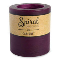 Spiral Light Small Candle - Cabernet