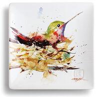 Big Sky Carvers Hummingbird in Nest Snack Plate