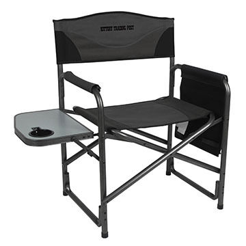 Portal Aluminum Director's Chair w/ Side Table and Kittery Trading Post Logo