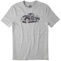 Life is Good Men's Mountain Old School Truck Crusher Short-Sleeve T-Shirt
