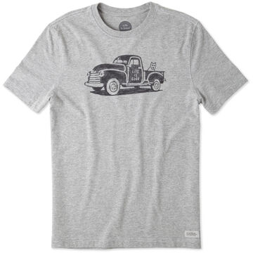 Life is Good Men's Mountain Old School Truck Crusher Short-Sleeve T-Shirt