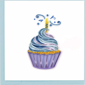 Quilling Card Cupcake & Candle Birthday Greeting Card
