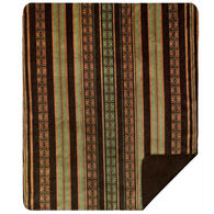 Monterey Mills Denali Dark Chocolate Stripe Throw Blanket