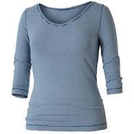 Royal Robbins Women's Striped Kickback To Front 3/4-Sleeve Shirt