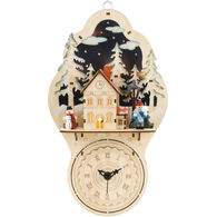DEMDACO Lit Holiday Home with Clock