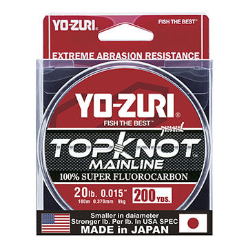 Yo-Zuri TopKnot Fluorocarbon MainLine Saltwater Fishing Line - 200 Yards