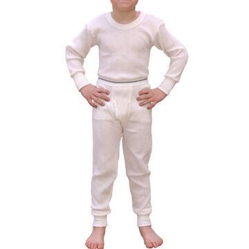 Indera Mills Boys Cotton Blend Thermal Shirt and Pant Set